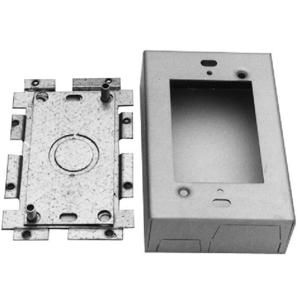 Wiremold AL2047 Shallow Switch/Receptacle Box, 1-Gang, AL Series, Aluminum