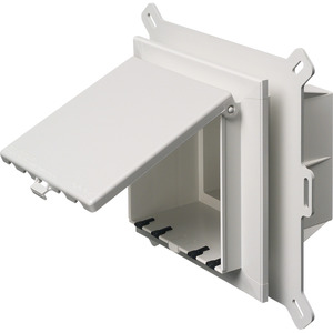 Arlington DBVS2W Recessed Box With Weatherproof In-Use Cover, 2-Gang, Vertical Mount