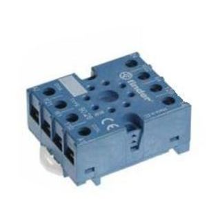 Finder Relays 90.27 Socket, 11-Pin, Double Plate Clamp Terminal, for #60.13 Relay, Blue