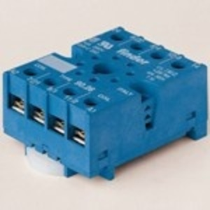 Finder Relays 90.26 Socket, 8-Pin, Relay, Mounting Base, Screw Terminal, Box Clamp