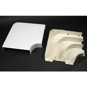 Wiremold 5511FO Radiused Full Capacity Flat Elbow / 5500 Series Raceway, Ivory