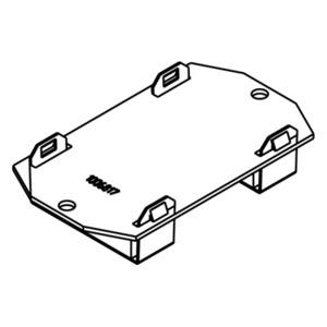 Wiremold 1BLH Bottom Housing Assembly, 1-Gang, Blank, Non-Metallic