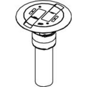 "Wiremold RC9AMDTCBK Poke-Thru Assembly, Diameter: 7"", Non-Metallic"