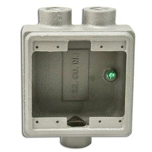 """Appleton FSS-2-100 FS Device Box, 2-Gang, Dead-End, Type FSS, 1"""", Malleable Iron"""