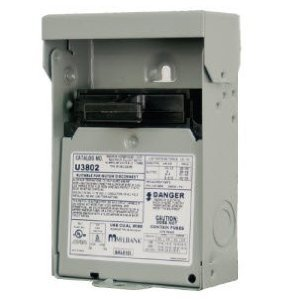 Milbank U3802 Disconnect Switch, A/C, Non-Fused, Pullout, 60A, 240VAC, NEMA 3R
