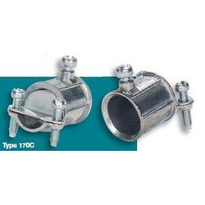 """Steel Electric Products 170C Combination Coupling, EMT to Flex, 1/2 - 3/8"""", Zinc Die Cast"""