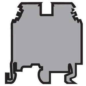 Entrelec 011511607 Terminal Block, Feed Through, M 4/6, 6mm, Gray, Screw Clamp