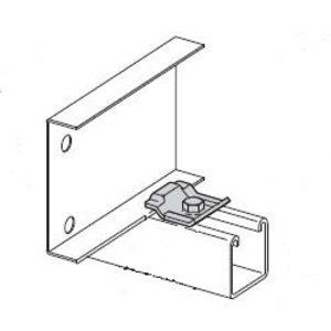 "Cooper B-Line 9ZN-1204 Cable Tray Clamp/Guide for Strut, 1-1/2"" Long, Steel, Galvanized"