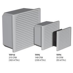 "Hoffman TFP624 Filter Fan Package, 24V, Type 12, Fits 6"", Non-Metallic"