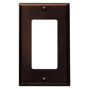 Leviton 80401-N Decora Wallplate, 1-Gang, Nylon, Brown