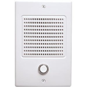 Broan NDB300WH Intercom Door Speaker with Illuminated Chime Pushbutton, In-Wall Mount