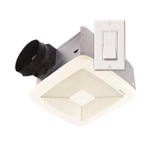 Broan SSQTXE080 Exhaust Fan, Ventilation, White, 80 CFM