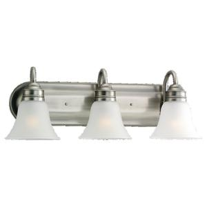 Sea Gull 44852-965 3-Light Wall/Bath Fixture, 100W, 120V, Brushed Nickel Finish