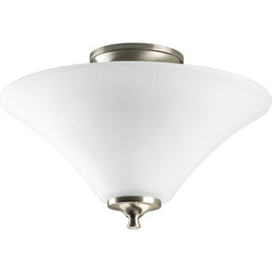 Progress Lighting P3855-09 Close to Ceiling Light, 2-Light, 100W, Brushed Nickel