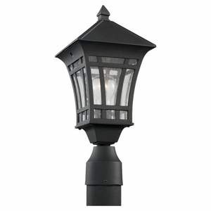 Sea Gull 82131-12 Outdoor Post One Light Black
