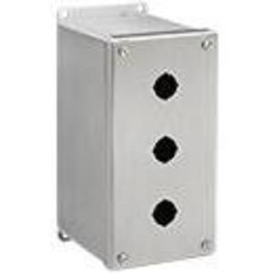 Hoffman E3PBXSS Enclosure, Pilot Device, 30 mm, 3 Hole, Extra Deep, Stainless Steel