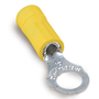 """Thomas & Betts 10RC-14 Ring Terminal, Vinyl Insulated, 12 to 10 AWG, 1/4"""" Stud"""