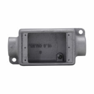 """Cooper Crouse-Hinds FDC1SA FD Device Box, 1-Gang, Feed-Thru, Type FDC, 1/2"""", Malleable Iron"""