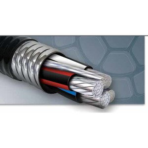 Multiple MCAL2/02/02/02/04STRWG MC Cable, Aluminum Flex, (4) 2/0 AL w/Ground