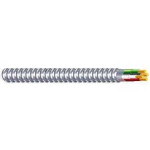 Multiple MCAL123SOLGRYORNYELWG250CL MC, Aluminum Armor, 12/3 w/Ground (GRY/ORA/YEL), Solid, 250'