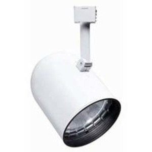 Juno Lighting R502-WHB-WH Track Head, Round Back, BR30/PAR30L, 65/75W, White, White Baffle