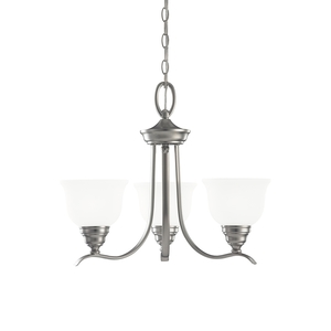 Sea Gull 31625-962 Chandelier, 3-Light, 100W, Brushed Nickel