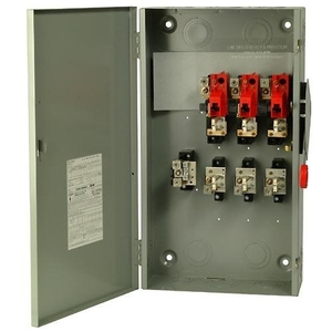 Eaton DH261NGK Safety Switch, 30A, 2P, 600V/600DC, Neutral, HD Fusible, NEMA 1