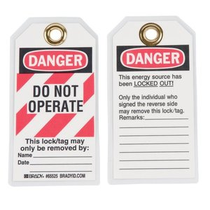 Brady 65525 Lockout Tags