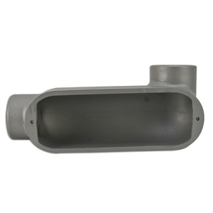 "Appleton LR250A Conduit Body, Type: LR, Form 85, Size: 2-1/2"", Aluminum"