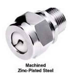 "Hubbell-Kellems SHC1034ZP Cord Grip, Straight, Size: 3/4"", Cord Range: 0.50 - 0.63"", Steel/Zinc"