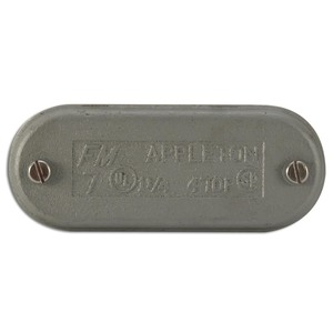 """Appleton 970F Conduit Body Cover, Size: -1/2"""" & 4"""", Type: Wedge, Form 7, Iron"""