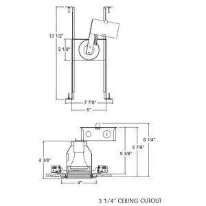 "Juno Lighting TC18-184-WWH Round TC Fixture , Baffle Trim, 3"", White"