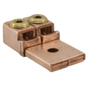Ilsco MU-250 Mechanical Lug, Copper, Two Conductor, One Hole