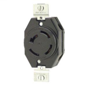 Leviton 7410-B Locking Receptacle, Non-NEMA, 20A, 3PH 120/208V, 4P4W