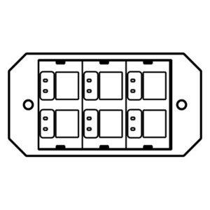 Wiremold 8ACT6A Device Plate, 1-Gang, Accepts up to (6) Ports, Non-Metallic