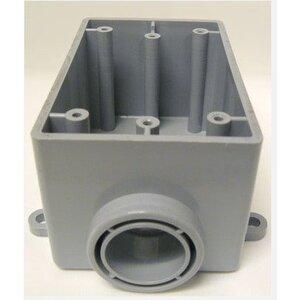 "Cantex 5133364 FS Device Box, Type: FSE, Dead-End, Depth: 2.375"", 3/4"" Hub, PVC"