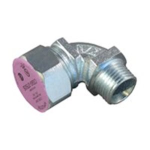 "Appleton CG90-87100S Liquidtight Strain Relief Cord Connector, 1"", 90°, Steel"