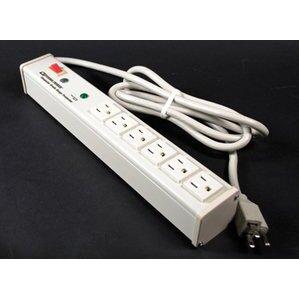 Wiremold M6BZ Plug-In Outlet Center Unit, 6 Outlets, 15A, 120V