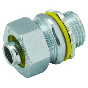 "Hubbell-Raco 3514RAC Liquidtight Connector, Insulated, Straight, 1"", Steel"