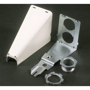 Wiremold 5786WH Stl Adjust Offset Connector White
