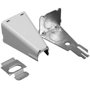 "Wiremold 5785WH Raceway Combination Connector, 1/2"", White, 500/700 Series"
