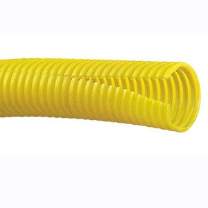 "Panduit CLT100F-C4 Corrugated Slit Loom Tubing, .1"", Polyethylene, Yellow"