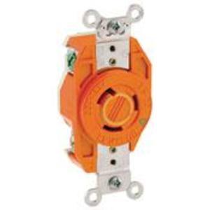 Leviton 2320-IG Locking Single IG Receptacle, 20A, 250V, 2P3W