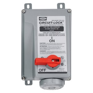 Hubbell - Electrical HBL430MI5W Ps, Iec, Mechint, 3p4w, 30a 3p 600v, W/t