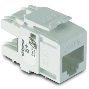 Leviton 61110-BW6 White Cat 6+ QuickPort Snap-In Connector