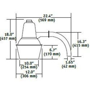 Hubbell - Lighting DDS-150S Barnlight, High Pressure Sodium, 150W, 120V