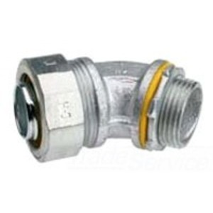 """Cooper Crouse-Hinds LT15045 Liquidtight Connector, 45°, 1-1/2"""", Non-Insulated, Malleable Iron"""