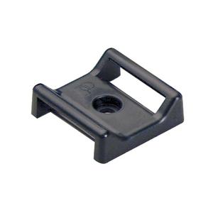 Panduit ABMT-A-C20 Hook & Look Cable Tie Mount, Nylon, Black, Adhesive, 100/PK
