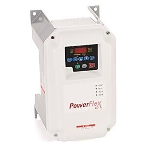 Allen-Bradley 22B-V5P0C104 Drive, PowerFlex 40, 120VAC, 1PH, 5.0A, 0.75KW, 1.0HP, No Filter