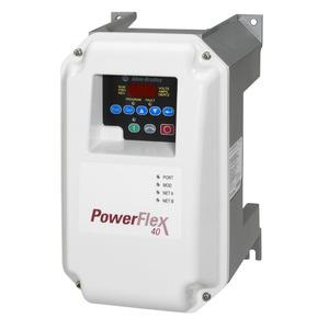 Allen-Bradley 22B-V2P3C104 Drive, PowerFlex 40, 120VAC, 1PH, 2.3A, 0.4KW, 0.5HP, No Filter